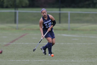 Cayla playing FH for Immaculata.